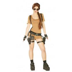 Disfraz de aventurera adulta. Disfraz de Tomb Raider: Lara Croft