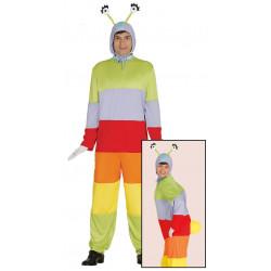 Disfraz de gusano para adulto. Disfraz de oruga multicolor