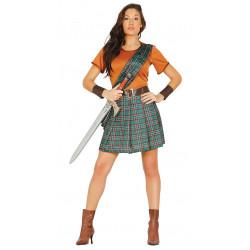Disfraz de guerrera escocesa adulta. Disfraz de William Wallace de Braveheart para mujer