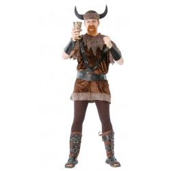 Disfraz de vikingo de lujo adulto. Disfraz de rey nórdico para hombre