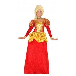 Disfraz de condesa adulta. Vestido rojo de marquesa