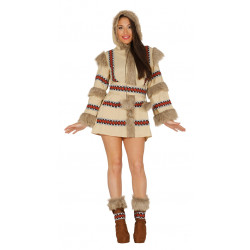 Disfraz de Esquimal adulta. Disfraz de Inuit chica