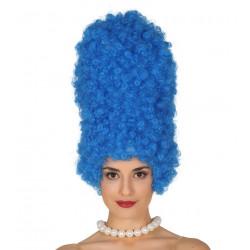 Peluca de rizos azul - Peluca de Marge Simpson