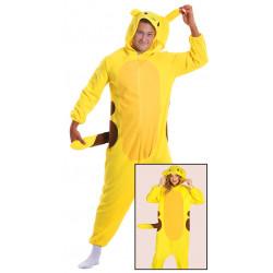 Disfraz de chinchilla eléctrica adulto. Disfraz de Pokemon Pikachu para adulto