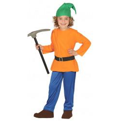 Disfraz de enanito del bosque infantil. Enanito de blancanieves niño