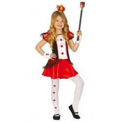 Disfraz Dama Corazones Infantil - Disfraz Reina de Corazones para Niña