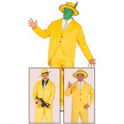 Disfraz de gangster amarillo adulto. Disfraz de 'La Máscara' para adulto