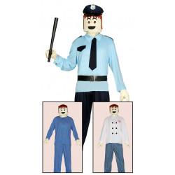 Disfraz careta de muñeco adulto. Disfraz de juguete lego para adulto