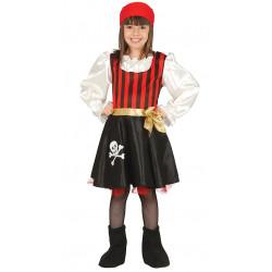 Disfraz de Pirata Calavera Infantil - Disfraz de corsaria para niña