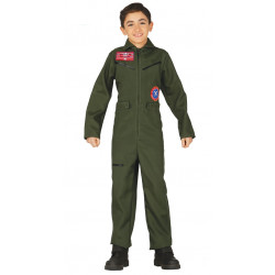 Disfraz de aviador militar infantil. Disfraz de piloto para niño