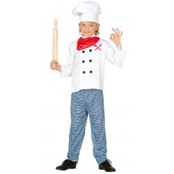 Disfraz de cocinero infantil. Traje de chef San Prudencio para niño