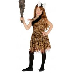 Disfraz de Troglodita Infantil - Disfraz de Cavernícola para Niña