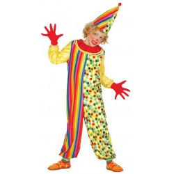 Disfraz de payasito infantil. Payaso de rayas y lunares para niño