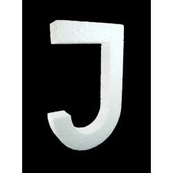 Letra J Poliespán, 30 cm