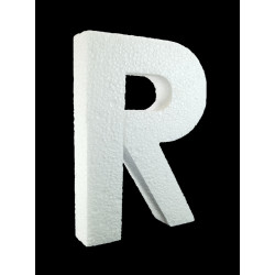 Letra R Poliespán, 30 cm