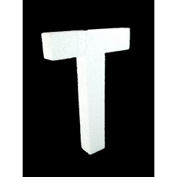 Letra T Poliespán, 30 cm
