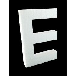 Letra E Poliespán, 30 cm
