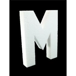 Letra M Poliespán, 30 cm