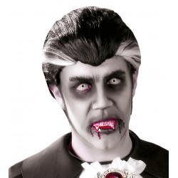 Peluca de conde Drácula con canas