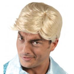 Peluca Corta para hombre rubia - Peluca años 80's