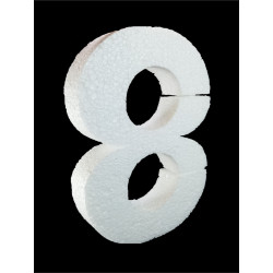 Número 8 Poliespán, 30 cm