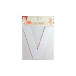 """Letra """"V"""" de Cartón"""