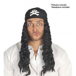 Peluca de pirata con pañuelo