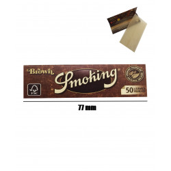Papel 77 mm, 50 Hojas Smoking Brown