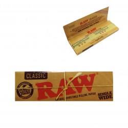 Papel 68mm, 50 hojas, Raw Single Wide Classic
