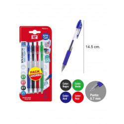 Pack ahorro bolígrafos de tinta gel, 4 unidades
