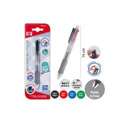 Bolígrafo multifunción 4 en 1. Bolígrafo de tinta borrable