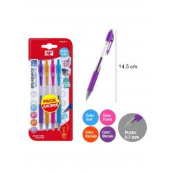 Pack ahorro bolígrafo gel. Colores vibrantes