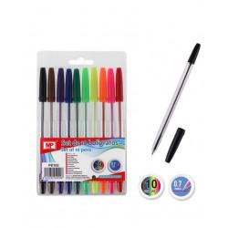 Pack 10 bolígrafos de colorines