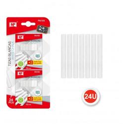 Pack de Tizas Blancas para Pizarra Negra, 24 piezas.