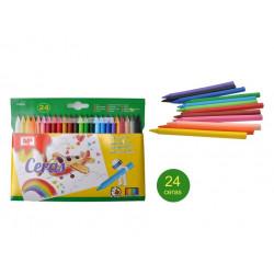 Ceras Plascolor 24 Unidades, Crayones para Niños