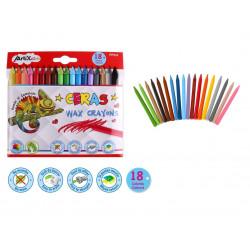 Ceras Plascolor 18 Unidades, Crayones para Niños