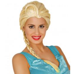Peluca princesa escarchada de hielo - Peluca Elsa de Frozen