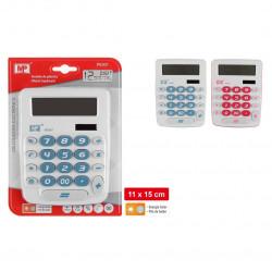 Calculadora Solar Mediana Básica, Rosa / Azul / Amarillo