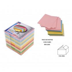 Taco de Notas Adhesivas con estuche, 850 Hojas. Taco de Post it para la oficina