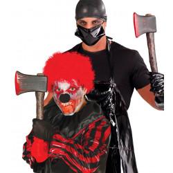 Hacha sangrienta de asesino PVC. Hacha para disfraz
