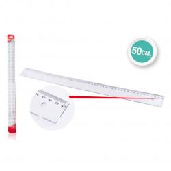 Regla Transparente 50cms Plástico. Reglas para el cole