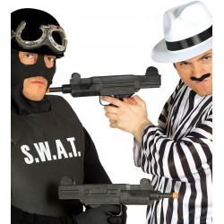 Subfusil uzi gangster / SWAT. 38 cm PVC