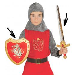 Set escudo y espada medieval infantil