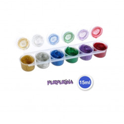 Set Tempera Purpurina, 6 Colores.