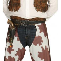 Cartuchera cinturón de vaquero con pistola