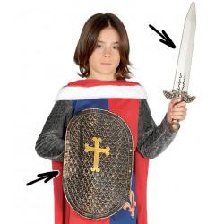 Escudo con espada medieval.