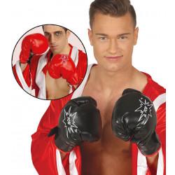 Guantes boxeo adulto. Guantes de boxeador rojo / negro