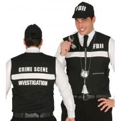 Chaleco y gorra FBI policía