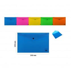 Carpeta A4 Botón, Varios Colores