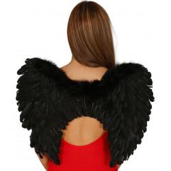 Alas negras de plumas. Alas de demonio - angel negro